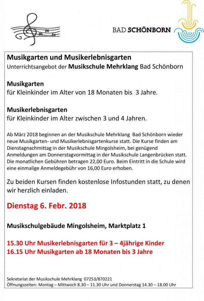 Musikgarten Info